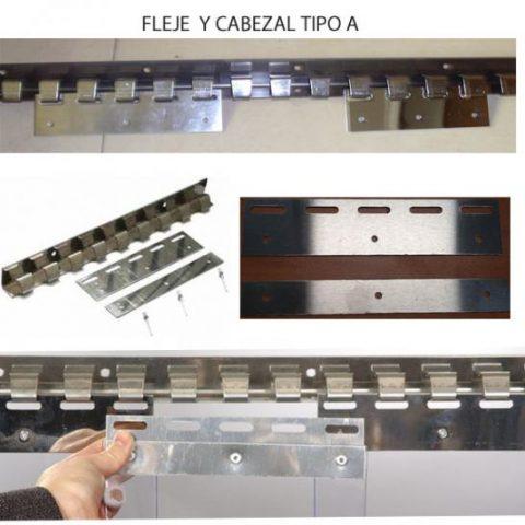 Cortinas de PVC Flexibles con Cabezales y Flejes de Acero Inoxidable